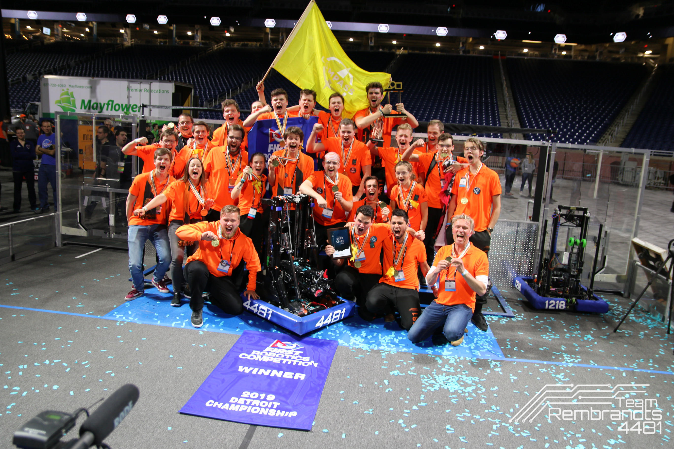 Team Rembrandts wint First Robotics Competition 2019